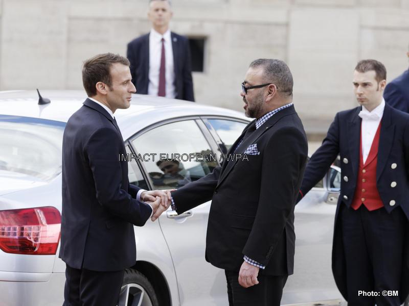 Emmanuel Macron received king Mohammed VI
