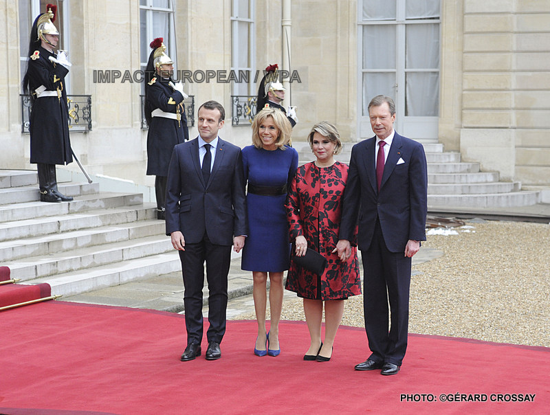 After 40 years, the first visit of State in France of the Grand duke and the Grand duchess of Luxembourg