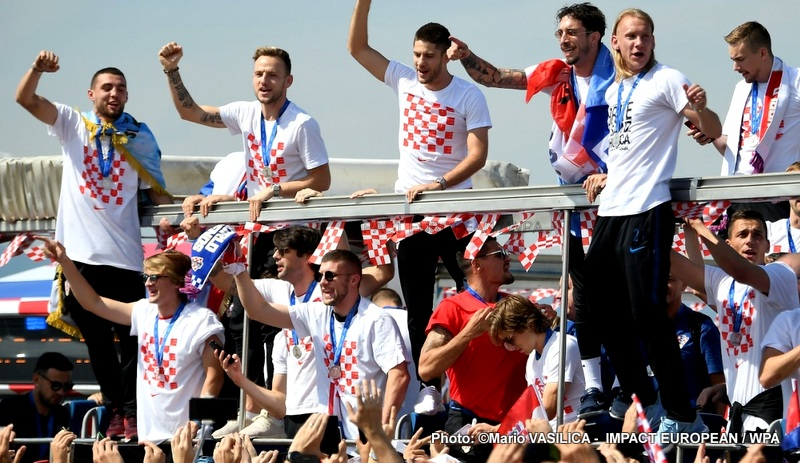 The vice-champions of the world, were accommodated and applauded Zagreb Monday