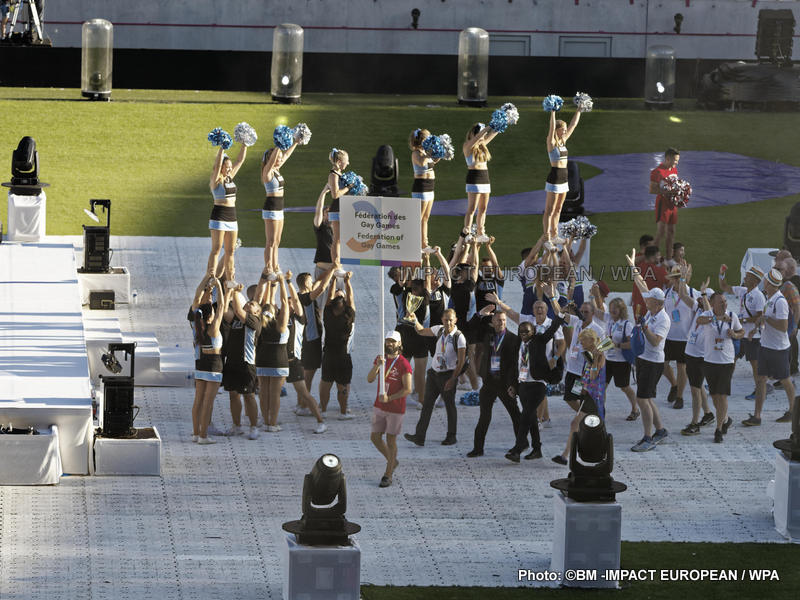 "Gay Games: opening ceremony of the 10th edition of ""World of diversity"""