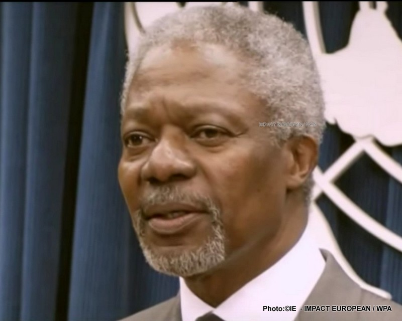 Death of the Nobel Prize of Peace, Kofi Annan