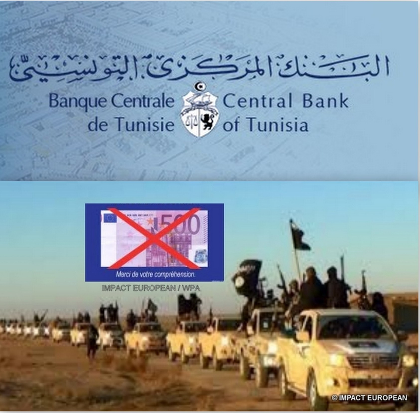 The Central Bank of Tunisia freezes colossal sums destined to the financing of terrorism