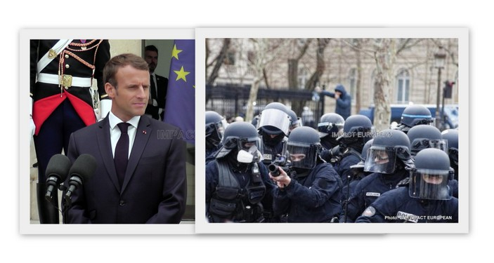 """Macron defends use LBD: """"I will not leave the police without any means (…) vis-a-vis people who arrive today armed"""""""