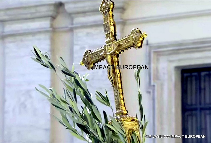 """The Pope, Palm Sunday: """"In the dark moments it is necessary to have the courage to conceal """"the triumphalism, the society lives and the threats stronger"""" for the Church"""""""