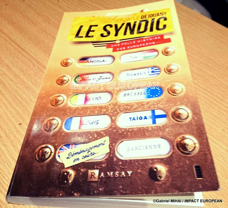 THE SYNDIC: a satire on the current functioning of the building of the 28 countries of the European Union